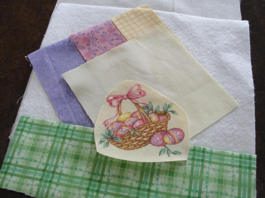EASTER BASKET Mini Magnet Quilt Wall Hanging