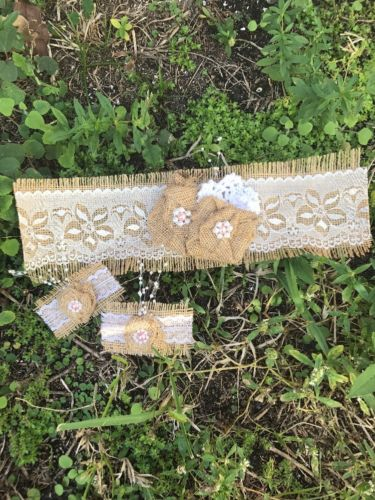 Burlap & Lace Unity Candle Set Wedding Unity Candle Set Wrap