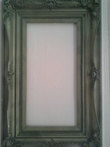 Gorgeous Large Antique 19th Century Gesso And Wood Frame.