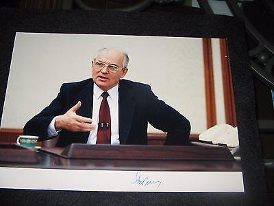 MIKHAIL GORBACHEV (USSR) - PHOTOGRAPH SIGNED - MOSCOW via WASHINGTON DC EMBASSY