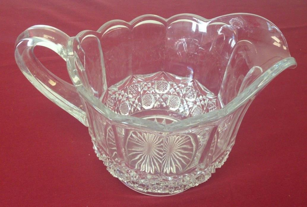 Vintage Glass Decorative Water Juice Milk Pitcher