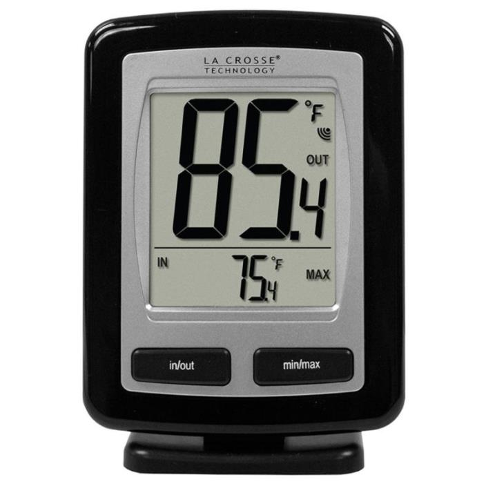 La Crosse Technology WS-9009BK-IT-CBP Wireless Outdoor temperature station with