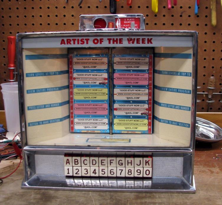 SEEBURG AP-3W100 JUKEBOX WALLBOX RESTORED  - STOCK #5057