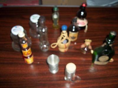 Miniature Liquor Bottles empty