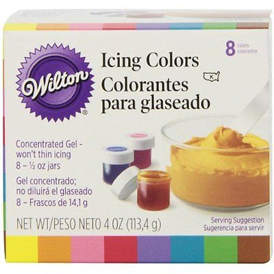 Food Coloring Wilton Set of 8 Icing Colors, 4 Ounce