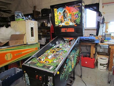 Williams Congo pinball machine 1995 fully shopped, lots of new parts, LED