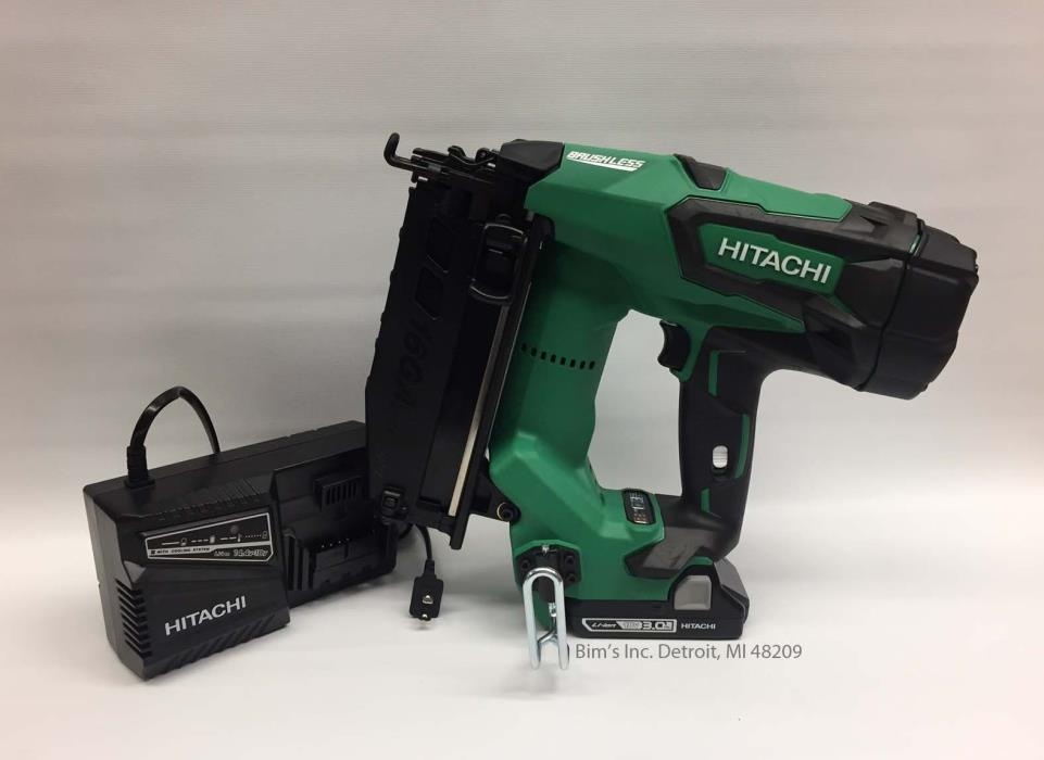Hitachi Cordless 18V Lithium Brushless 16GA Finish Nailer