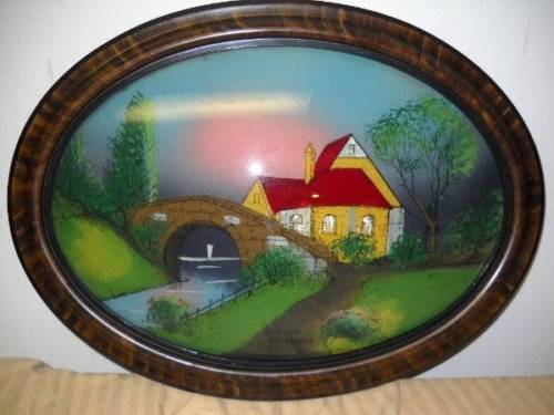 Oval Glass Reverse Painting Classifieds