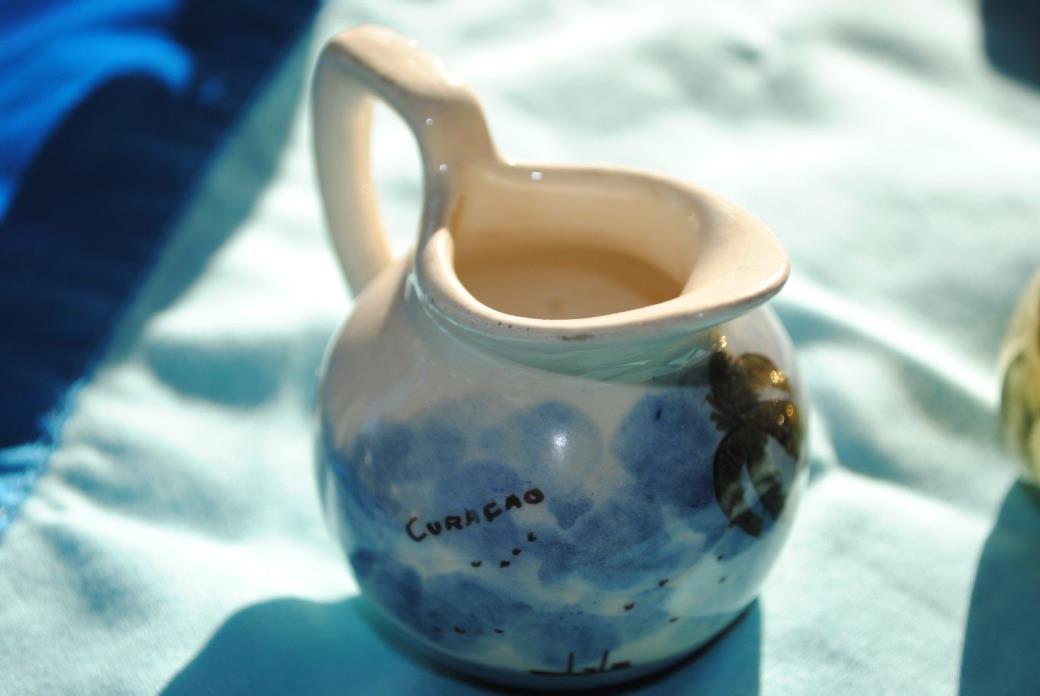 Curacao Scenic Ceramic Miniature Pitcher
