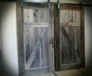 Interior Sliding Barn Door Hardware Kit (Powder Springs)