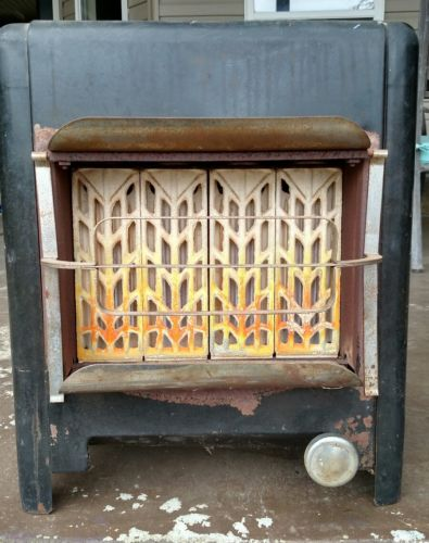 Vintage Humphrey Radiant fire antique gas heater stove old nostalgic decoration