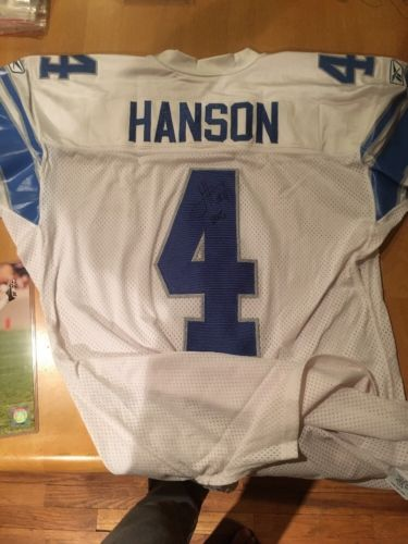 2002 Jason Hanson Game Used Throwback Jersey