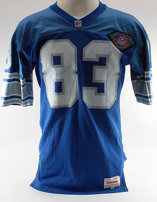 Aubrey Mathews #83 Signed Lions 25th Anniversary Wilsons NFL Jersey - 46 - Auto