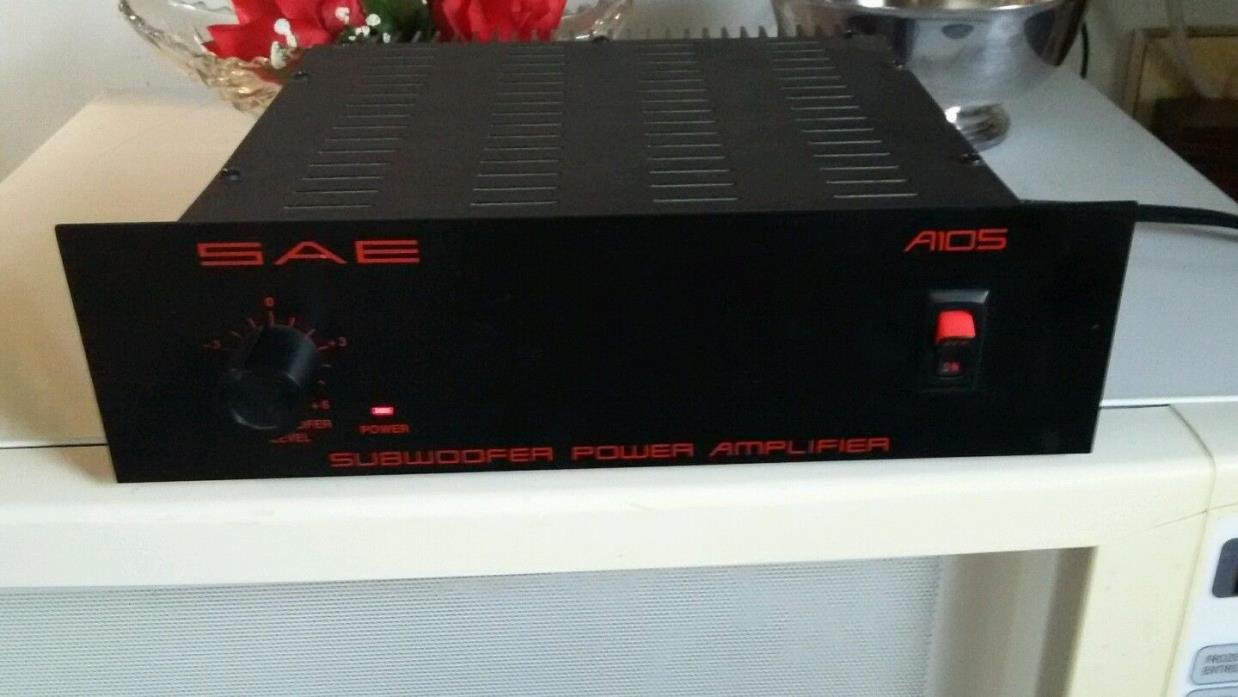 SAE A105 stereo Subwoofer Power Amplifier for tuner,receiver,amp,preamp #1