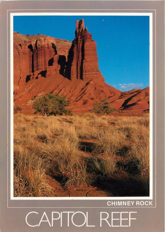 Chimney Rock Capitol Reef National Park Utah Postcard