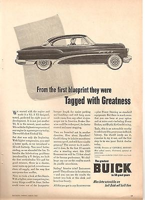 1953 BUICK AD TAGGED WITH GREATNESS DYNAFLOW FIREBALL V8 ROADMASTER