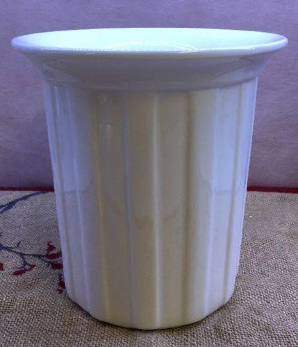 Crate and Barrel white porcelain utensil holder