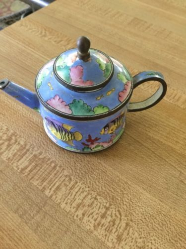 Decorative Enamel Teapot