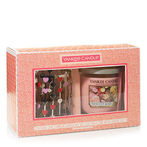 Yankee Candle String Of Hearts Holder & Tumbler Gift Set
