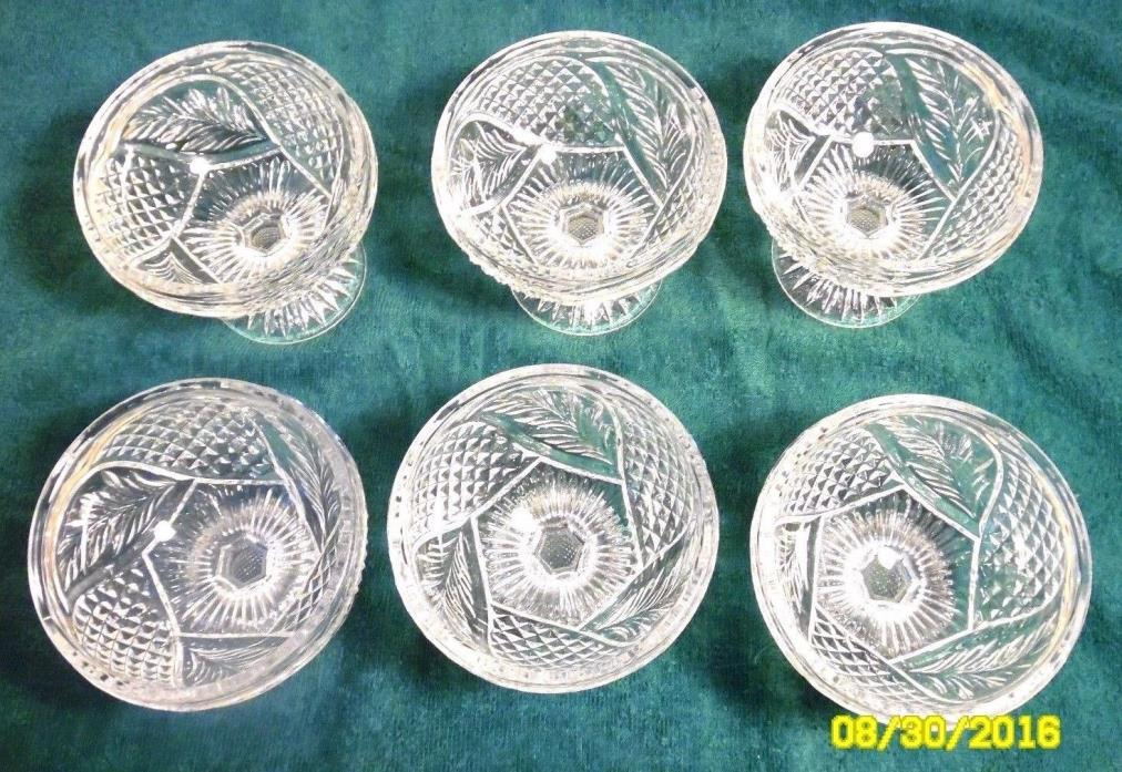 Vintage Crystal Stemware Dessertschale Tritschler Winterhalder Set of 6 Germany!