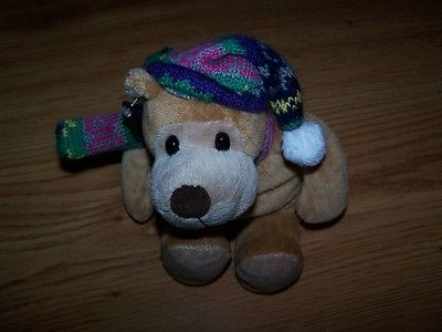 Animal Alley Musical Bear with Winter Hat and Scarf