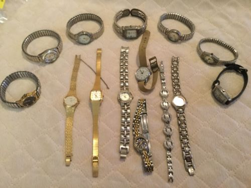 Ladies Vintage Wrist Watch Lot Benrus Seiko Anne Klein More