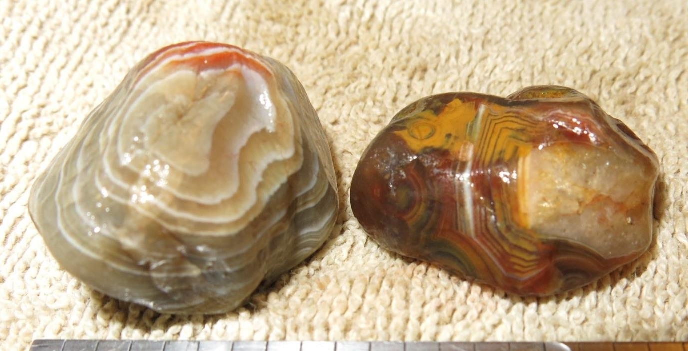 Rough Lake Superior Agate x2 Agates Banded W69