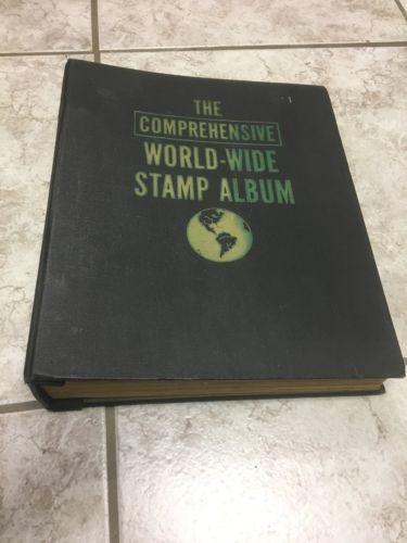 Vintage The Comprehensive Worldwide Stamp Album Binder