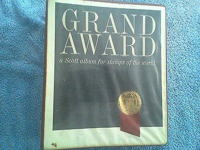 Scott Grand Award Stamp Album Binder with Supplement  for 1974