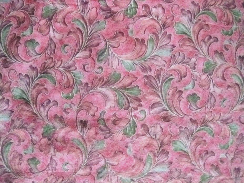 MILLENNIUM II by Jinny Beyer RJR Pinks Swirls Cotton Quilt FABRIC-BTY-Vtg.-#B16