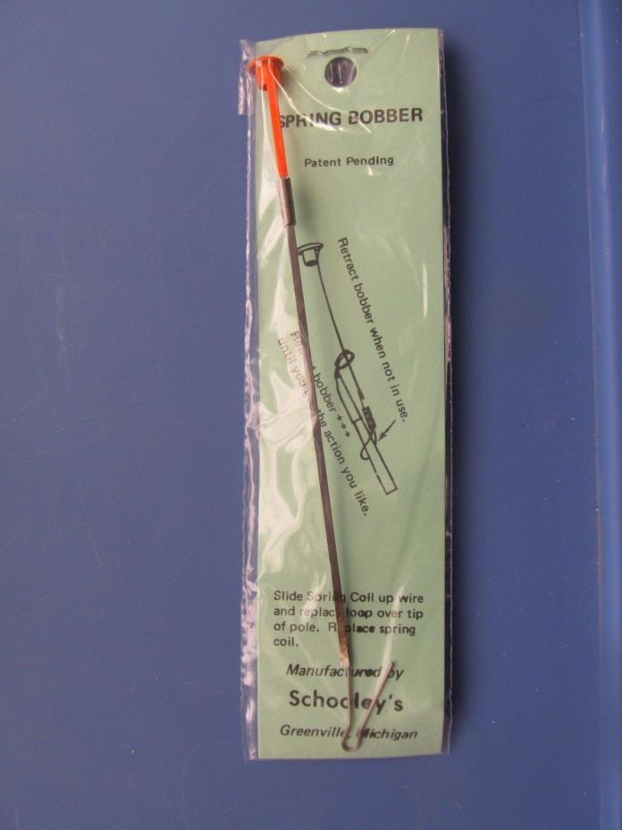 Schooley Spring Bobber THREE Slides Over End of Pole-Sensitive-Ice Fishing #24