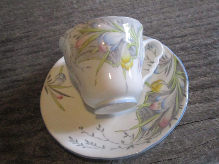 Royal Stafford fine china wildflower tea cup + saucer