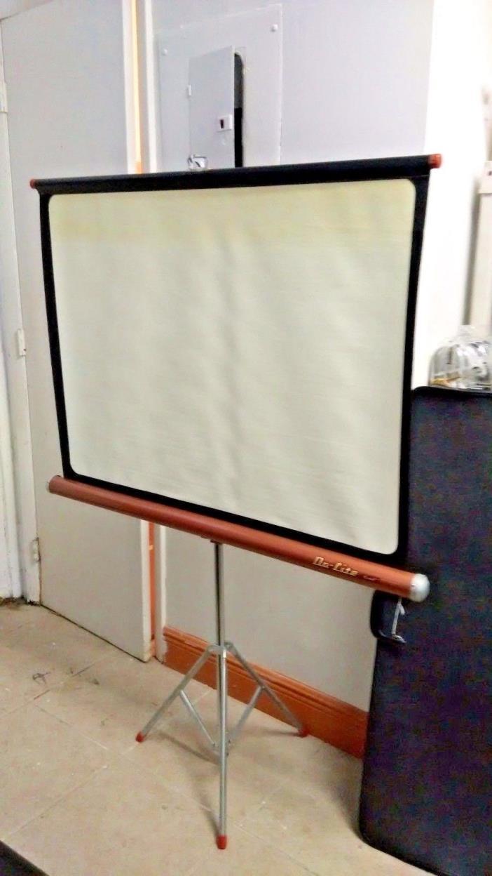 Vintage Portable Screen : Projector screen da lite for sale classifieds