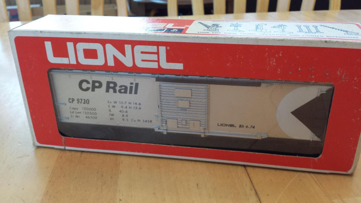 Lionel CP Rail Box Car 6-9730 w/ Orginal Box - Excellent Vintage Condition!