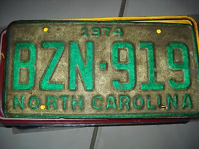 Antique North Carolina 1974 License Plate