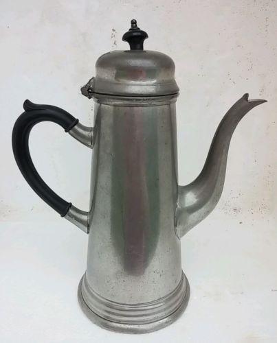 Antique William Adams Sheffield England Pewter Teapot