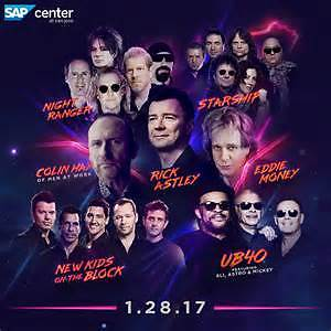 Iheart 80's concert 2017  January 28, 2017 at SAP Center, San Jose, California