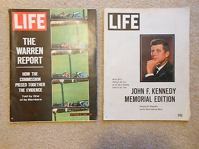 1964 Set of 2 Kennedy Memorial 'Life Magazine' Issues
