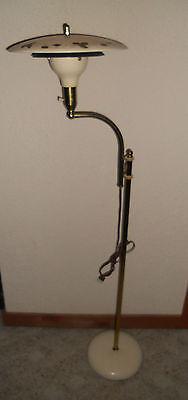 Vintage Mid Century Retro Adjustable Pole Floor Lamp Saucer Atomic Tole Shade
