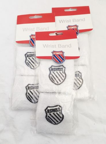 LOT of 6 k-swiss tennis wristbands NIP