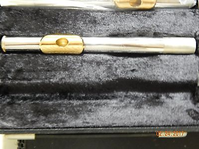 NEW Armstrong Flute Head joint Silver Plated with Gold Lip Plate PNGA