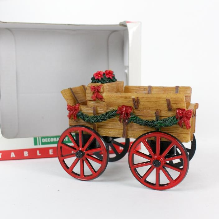 LEMAX Coventry Cove Village Table Accent Decorative Buckboard  Wagon Christmas