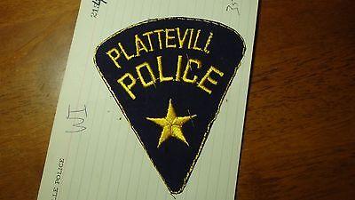 PLATTEVILLE   WISCONSIN POLICE DEPARTMENT  SALESMAN COPY OBSOLETE PATCH BXSP#424