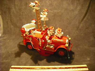 Enesco Dalmatian Fire Truck Bells, Whistles, Multi-Action & Lights Music Box