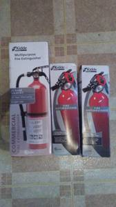 One 10lbs and two 4lbs multi-purpose fire extinguishers (Universal City)