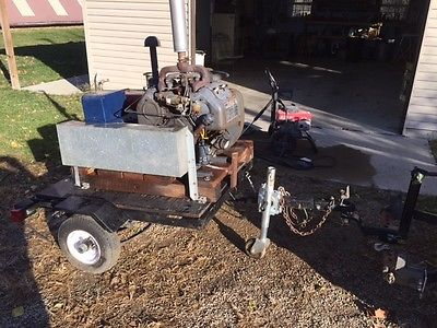 Winco 12.5 KW generator driven by 4 cyl Wisconsin VF4 engine