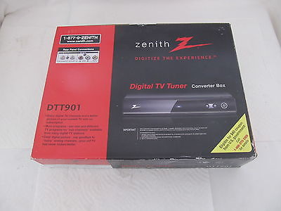 Zenith Digital TV Tuner Converter Box DTT901, NIB