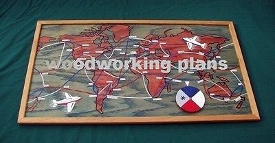 WOODWORKING PLANS - Travel board game DIY plans (English).