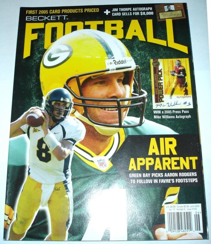 Beckett Football Card Monthly No. 183 Brett Favre / Aaron Rodgers / Emmitt Smith