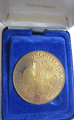 1975 European Architectural Heritage Commemorative Medallion UNC. (K1947)